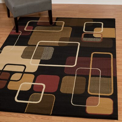 China Garden Jazz Black Multi Area Rug Rug Size: Rectangle 53 x 72