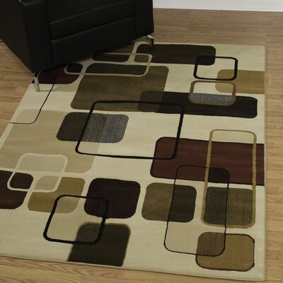 China Garden Jazz Linen Area Rug Rug Size: Rectangle 53 x 72