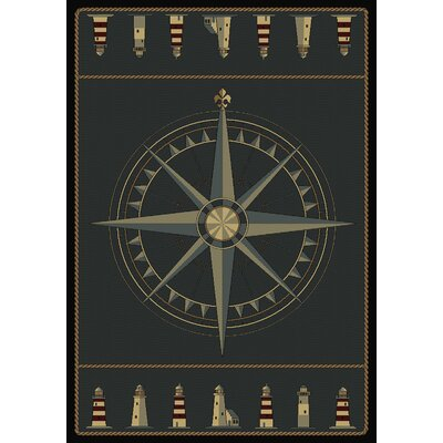 Huntwood Compass Novelty Area Rug Rug Size: 76 x 53
