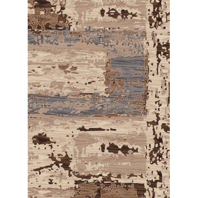 Treasure Beige Abstract Area Rug Rug Size: 36 x 56
