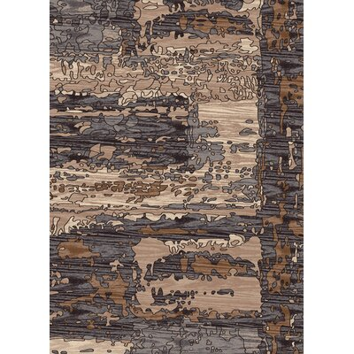Treasure Gray Abstract Area Rug Rug Size: 53 x 77