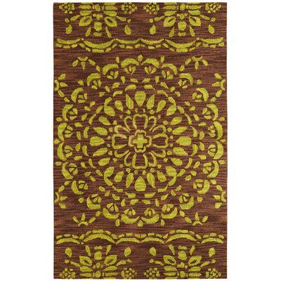 Palace Brown/Green Area Rug Rug Size: Rectangle 4 x 6
