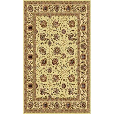 Taj Cream Area Rug Rug Size: Rectangle 2 x 35