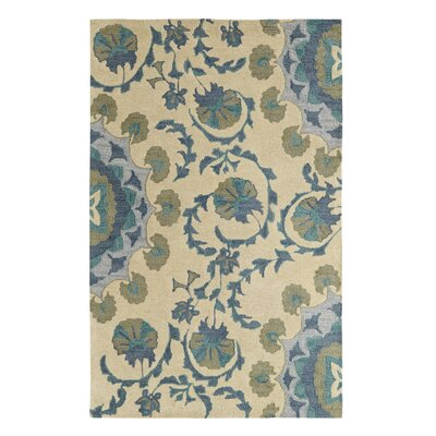 Palace Beige/Blue Area Rug Rug Size: 4 x 6