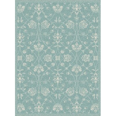 Paula Blue Floral Outdoor Area Rug Rug Size: Rectangle 311 x 57