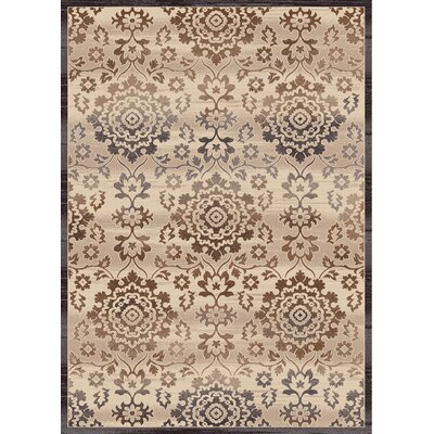 Treasure Cream Area Rug Rug Size: 67 x 96