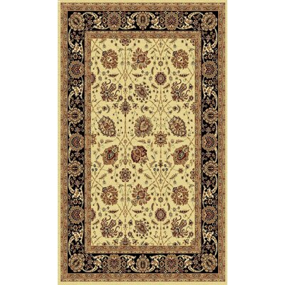 Taj Cream/Black Area Rug Rug Size: 311 x 57