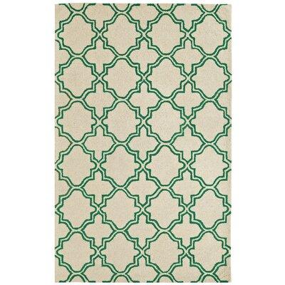 Palace Ivory/Emerald Area Rug Rug Size: 8 x 11