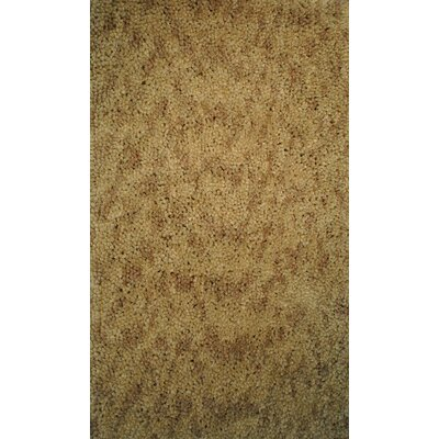 Luxury Shag Gold Area Rug Rug Size: 8 x 10