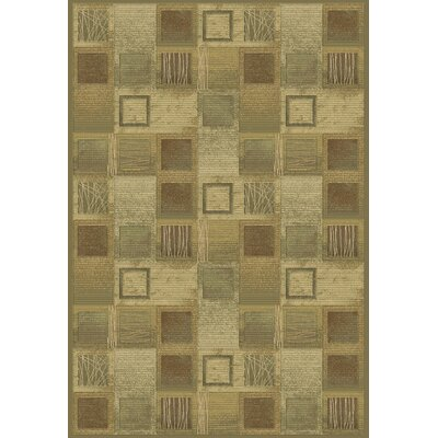 Eclipse Beige Area Rug Rug Size: 53 x 77
