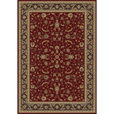 Taj Red/Black Area Rug Rug Size: 311 x 57