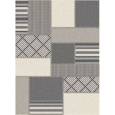 Piazza Geometric Gray/Beige Outdoor Area Rug Rug Size: 311 x 57