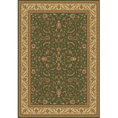 Taj Green/Cream Area Rug Rug Size: Rectangle 311 x 57