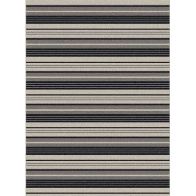Piazza Black Outdoor Area Rug Rug Size: 2 x 37