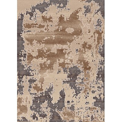 Treasure Cream Abstract Area Rug Rug Size: 53 x 77