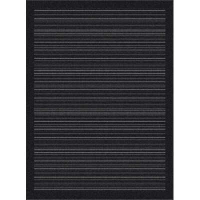 Piazza Charcoal Outdoor Area Rug Rug Size: 311 x 57