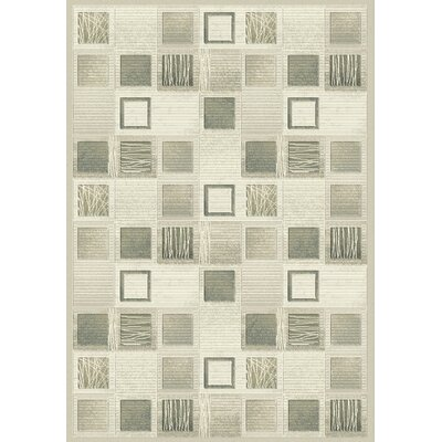 Eclipse Cream Area Rug Rug Size: Rectangle 53 x 77