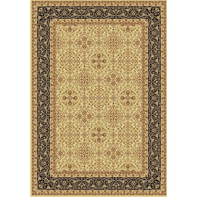 Taj Ivory/Black Area Rug Rug Size: Rectangle 2 x 35