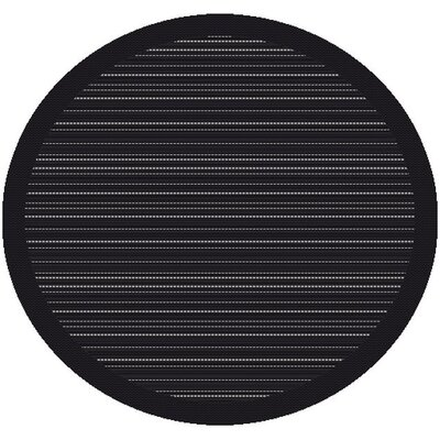 Piazza Charcoal Outdoor Area Rug Rug Size: Round 710
