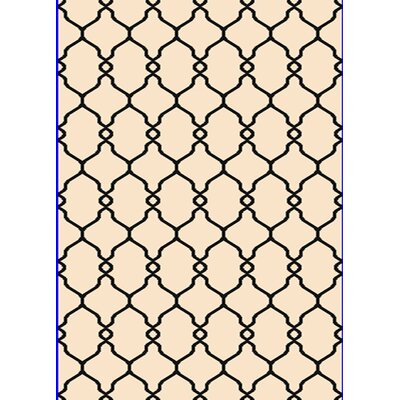 Passion Cream Area Rug Rug Size: 53 x 77