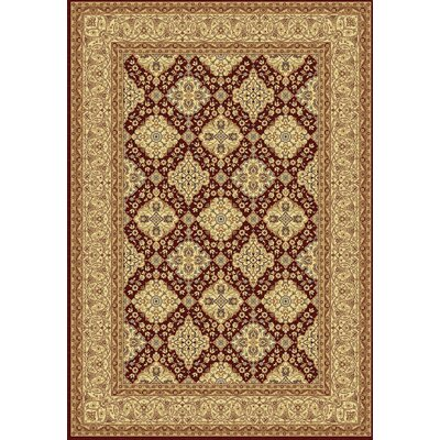Taj Red Area Rug Rug Size: 5'3 x 7'7