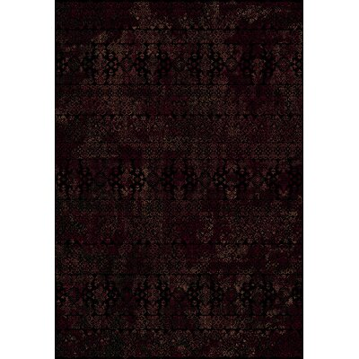 Ancient Garden Persian Black Area Rug Rug Size: 53 x 77
