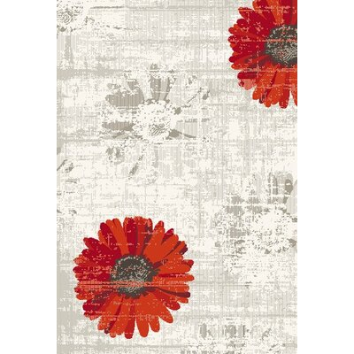 Martin Ivory/Red Area Rug Rug Size: 311 x 57