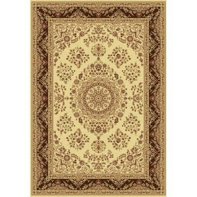 Taj Ivory/Brown Area Rug Rug Size: Rectangle 2 x 35
