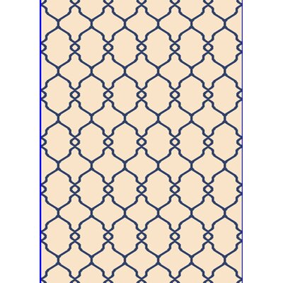 Passion Navy/Cream Rug Rug Size: 53 x 77