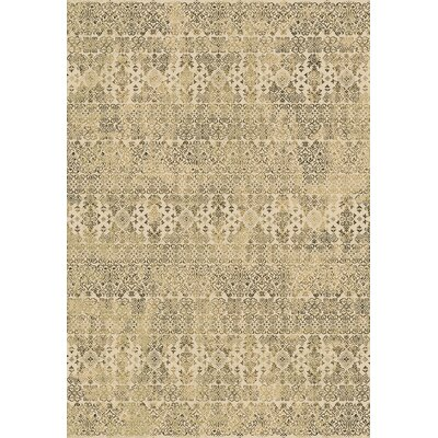 Ancient Garden Persian Beige Area Rug Rug Size: 53 x 77