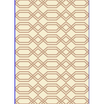 Passion White/Beige Rug Rug Size: Rectangle 710 x 1010