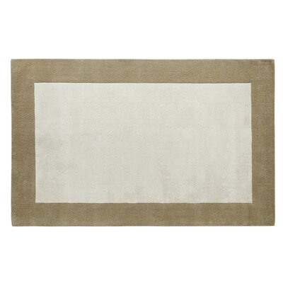 Manhattan Ivory Solid Bordered Area Rug Rug Size: 5 x 8