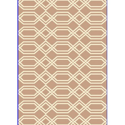Passion Beige/White Rug Rug Size: Rectangle 710 x 1010