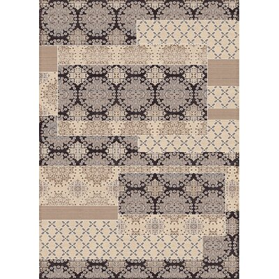 Treasure Cream Abstract Area Rug Rug Size: 36 x 56