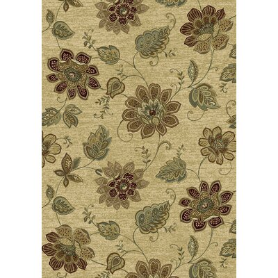 Ancient Garden Persian Beige Area Rug Rug Size: Rectangle 53 x 77