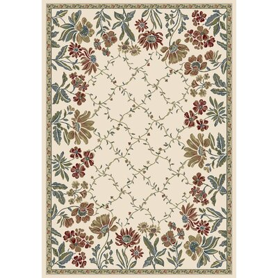 Ancient Garden Persian Ivory Area Rug Rug Size: Rectangle 67 x 96
