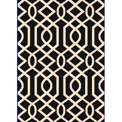 Passion Black/White Rug Rug Size: 67 x 96