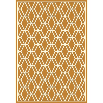 Trend Orange Geometric Area Rug Rug Size: Rectangle 67 x 96
