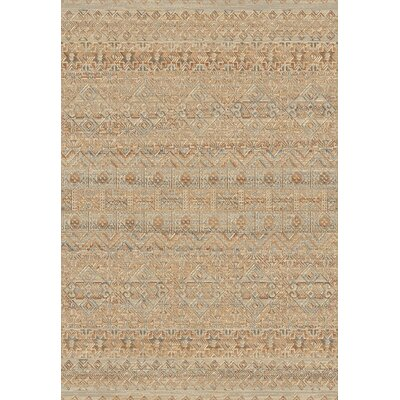 Leigh Natural Light Brown Area Rug Rug Size: 53 x 77