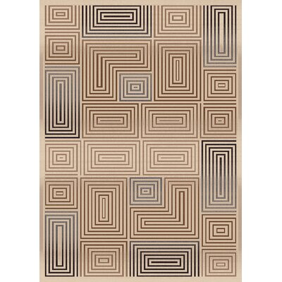 Treasure Cream Area Rug Rug Size: Rectangle 53 x 77