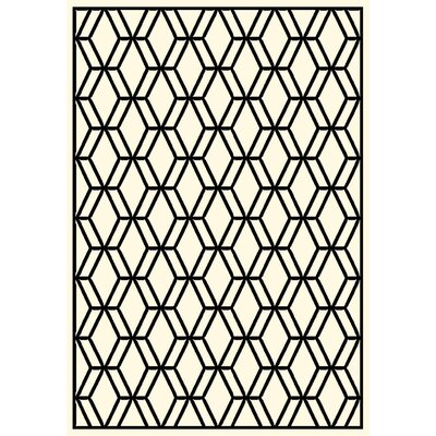 Trend Ivory/Black Geometric Rug Rug Size: 311 x 53