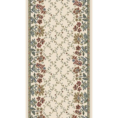 Ancient Garden Persian Ivory Area Rug Rug Size: Runner 22 x 77