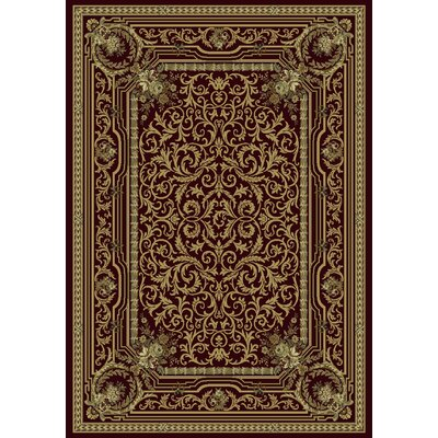 Ancient Garden Persian Burgundy Area Rug Rug Size: 92 x 1210