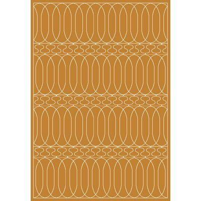 Trend Orange Geometric Area Rug Rug Size: 53 x 77