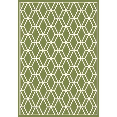 Trend Green Geometric Area Rug Rug Size: Rectangle 311 x 53