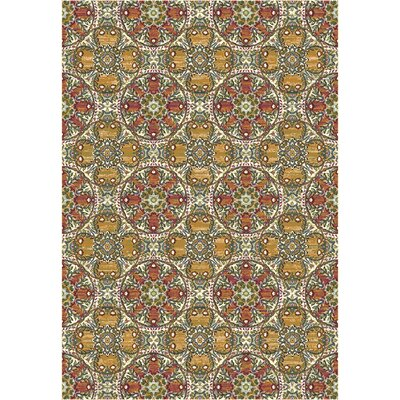 Heritage Geometric Area Rug Rug Size: Rectangle 67 x 96
