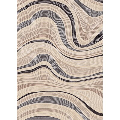 Treasure Cream Abstract Rug Rug Size: 36 x 56