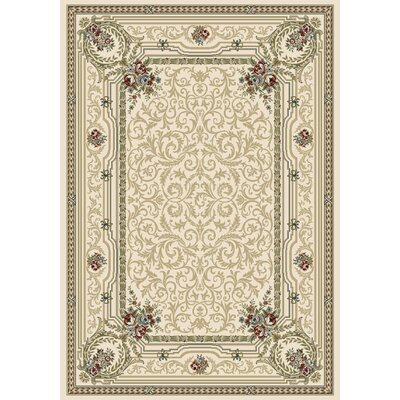Ancient Garden Persian Ivory Area Rug Rug Size: 53 x 77