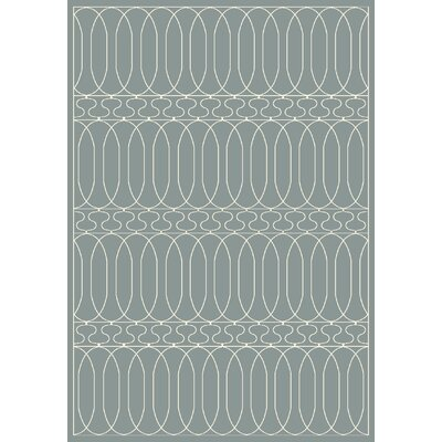 Trend Geometric Blue Area Rug Rug Size: Rectangle 2' x 3'7
