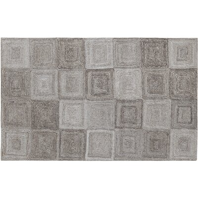 Posh Gray Area Rug Rug Size: Rectangle 4 x 6